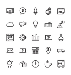 SEO and Marketing Outline Icons 5 vector