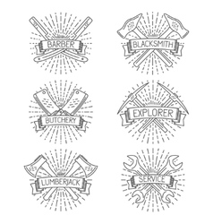 Set of badges labels design elements and vector