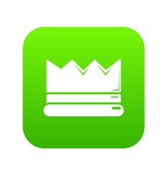 silver crown icon green vector image