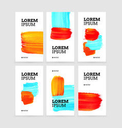 social media story templates sale banners hand vector image
