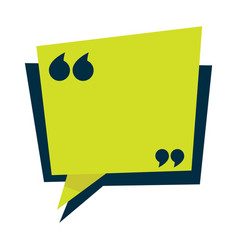 speech bubble isolated icon quotation mark vector image