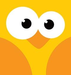 square bird face icon button vector image