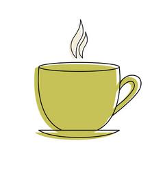 Tea cup with color spots vector