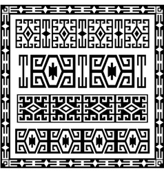 traditional geometric design elements version vector image