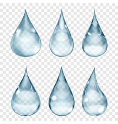 Transparent drops vector