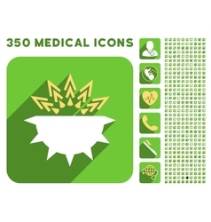 Viral Structure Icon and Medical Longshadow Icon vector image