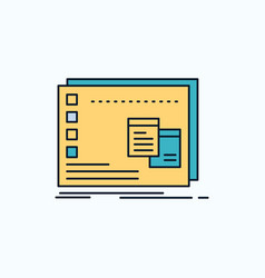 Window mac operational os program flat icon green vector