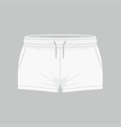 Womens white sport shorts vector
