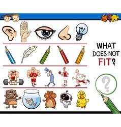 Wrong element preschool game vector