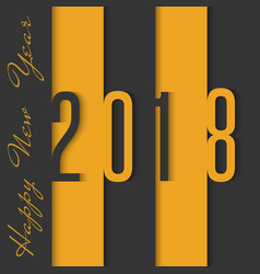 2018 happy new year material design black and vector
