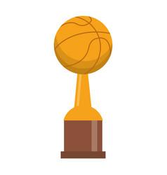 award cup basketball sport vector image vector image