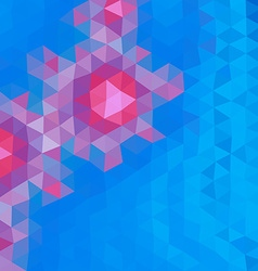 Colored polygonal background consist of triangles vector image vector image