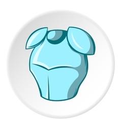 Metal combat helmet icon cartoon style vector image vector image