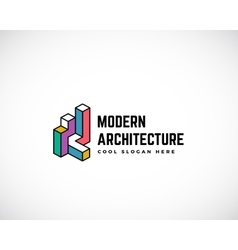 Modern Architecture Abstract Logo Template vector image