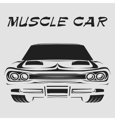 Muscle car retro poster vector image