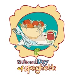 national day of spaghetti vector image