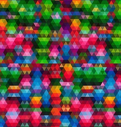 pattern of geometric shapes Triangle mosaic vector image
