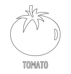 tomato icon outline style vector image vector image