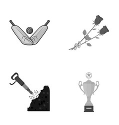 achievements industrial business and other vector image vector image