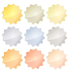 set of blank glossy templates of different metals vector image vector image