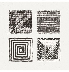 Squares set Pattern vector image vector image