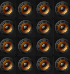 wall of speakers vector image