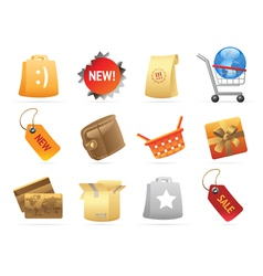 Icons for retail vector image