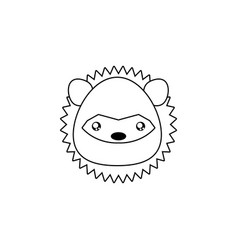porcupine drawing face vector image