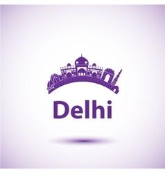 silhouette of Delhi India vector image vector image