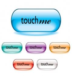 touch me button vector image vector image