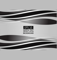 abstract background black and gray wave with copy vector image