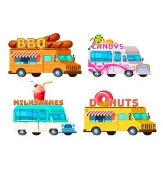 Food Trucks Set vector image vector image