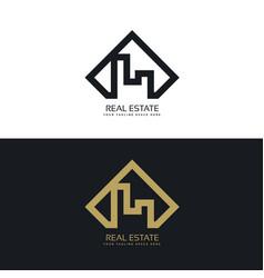 Modern concept of real estate logo vector