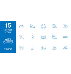 15 truck icons vector image