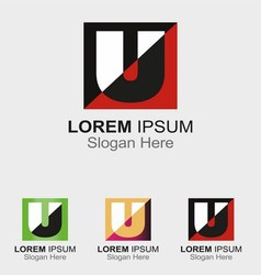 Abstract logo icon for letter U vector