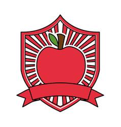 apple fresh healthy food emblem vector image
