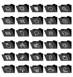 Application folder icons vector