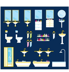 Bathroom equipment set vector image