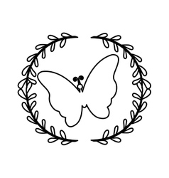 Beautiful butterfly wings vector
