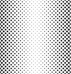 Black and white star pattern background vector image