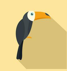 brazilian toucan icon flat style vector image