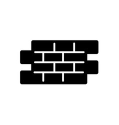 Bricks simple icon black and white vector