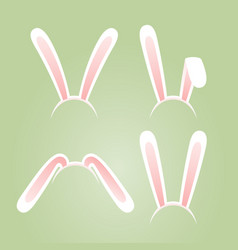 bunny ears masks set vector image