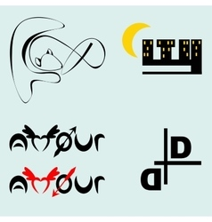 Business Icons Set Isolated On Gray vector image