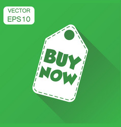 buy now hang tag icon business concept buy now vector image