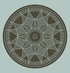 Byzantine rosette vector
