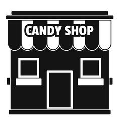 Candy shop icon simple style vector