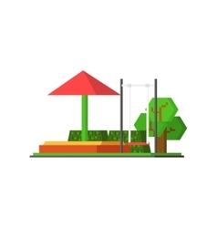 City Kids Playground vector image