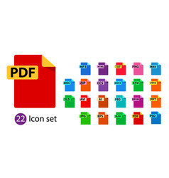 Collection icons file format extensions vector