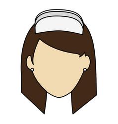colorful realistic image faceless female nurse vector image